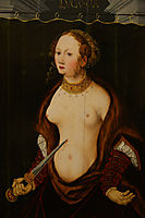 Lucretia committing suicide., c.1550, cranach