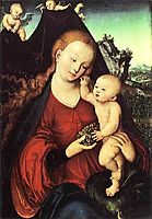 Madonna and Child with a Bunch of Grapes, 1525, cranach