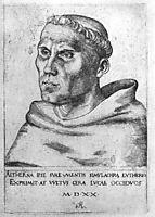 Martin Luther as a Monk, 1520, cranach