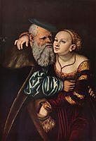 The old man in love, 1537, cranach