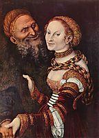 The old man in love, c.1517, cranach