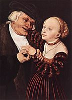 Old Man and Young Woman, cranach