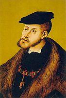 Portrait of Charles V, 1533, cranach