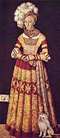 Portrait of duchess Katharina von Mecklenburg, 1514, cranach