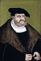 Portrait of Elector Frederick the Wise in his Old Age, 1525, cranach