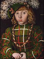 Portrait Of Johann Friederich I the Magnanimous, Elector of Saxony, 1509, cranach