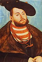 Portrait of Johann Friedrich, Elector of Saxony, 1531, cranach