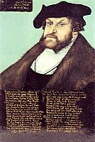 Portrait of Johann I the Steadfast, Elector of Saxony, c.1533, cranach