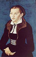 Portrait of Katharina von Bora, 1529, cranach