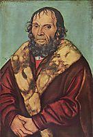 Portrait of Magdeburg theologians Dr. Johannes Schöner, 1529, cranach