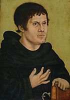 Portrait of Martin Luther as an Augustinian Monk, c.1523, cranach
