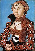 Portrait of a Saxon noblewoman, 1534, cranach