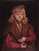 Portrait of a Saxon Prince , c.1520, cranach