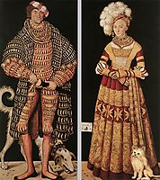 Portraits of Henry the Pious, Duke of Saxony and his wife Katharina von Mecklenburg, 1514, cranach