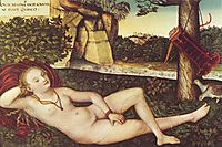Reclining Diana, c.1515, cranach