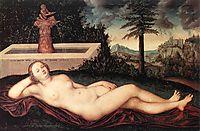 Reclining River Nymph at the Fountain, 1518, cranach
