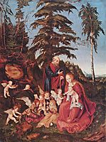 Rest on the Flight into Egypt, 1504, cranach