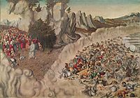 Sinking Of The Pharaoh In The Red Sea, 1530, cranach