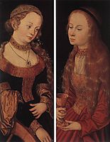 St. Catherine and St. Barbara, cranach