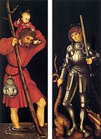 St. Christopher and St. George, c.1514, cranach