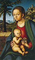Virgin and Child with a Bunch of Grapes, 1510, cranach