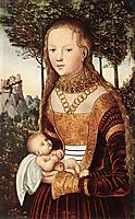 Young mother with child, cranach