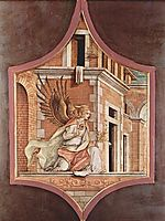 Annunciation angel, 1482, crivelli