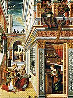 Annunciation with Saint Emidius, 1486, crivelli