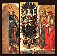 The central panels of the polyptych, crivelli