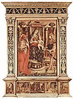 Enthroned Madonna, St. Jerome and St. Sebastian, 1490, crivelli