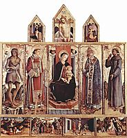 Enthroned Madonna, crivelli