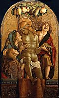 Lamentation Over the Dead Christ, 1485, crivelli