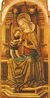 Madonna and Child Enthroned , c.1476, crivelli
