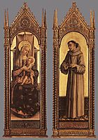 Madonna and Child, St Francis of Assisi, 1472, crivelli
