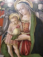 Madonna Enthroned with Donor (detail), crivelli