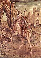 Saint George and the dragon, 1490, crivelli