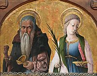 Saints Anthony and Lucia, c.1470, crivelli