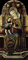 Virgin and Child Enthroned , c.1476, crivelli