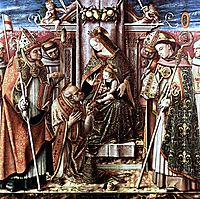 Virgin and Child Enthroned with Saints, c.1488, crivelli