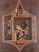 Virgin proclamation, 1482, crivelli