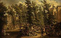 Boulevard des Italiens, Paris, 1815, crome