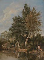 Boys Bathing on the River Wensum, Norwich, 1817, crome