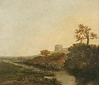 A Castle in Ruins, Morning, crome