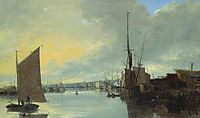 Yarmouth Harbour - Evening, 1817, crome