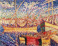 Boats in the Port of St. Tropez, cross