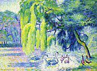 Family of Swans, c.1900, cross