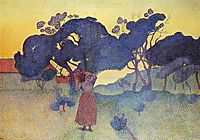 The Farm, Evening, 1893, cross