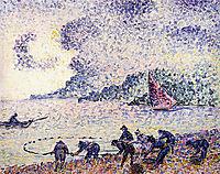 Fisherman, 1895, cross
