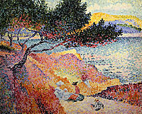 La Plage de Saint-Clair, 1907, cross
