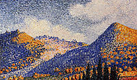 Landscape, the Little Maresque Mountains, 1898, cross